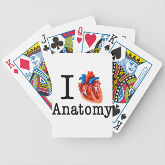 I love Anatomy Bicycle Playing Cards
