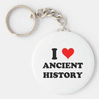 I Love Ancient History Basic Round Button Key Ring