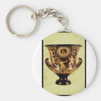 I love Ancient Pottery Basic Round Button Key Ring