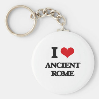 I love Ancient Rome Basic Round Button Keychain