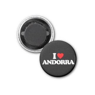 I LOVE ANDORRA 3 CM ROUND MAGNET