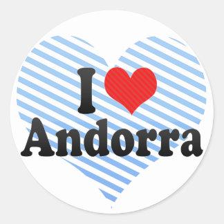 I Love Andorra Classic Round Sticker