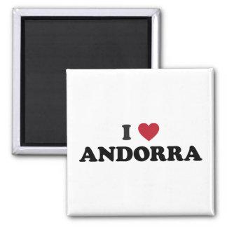 I Love Andorra Square Magnet