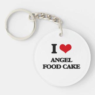 I love Angel Food Cake Single-Sided Round Acrylic Keychain