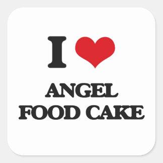 I love Angel Food Cake Square Sticker