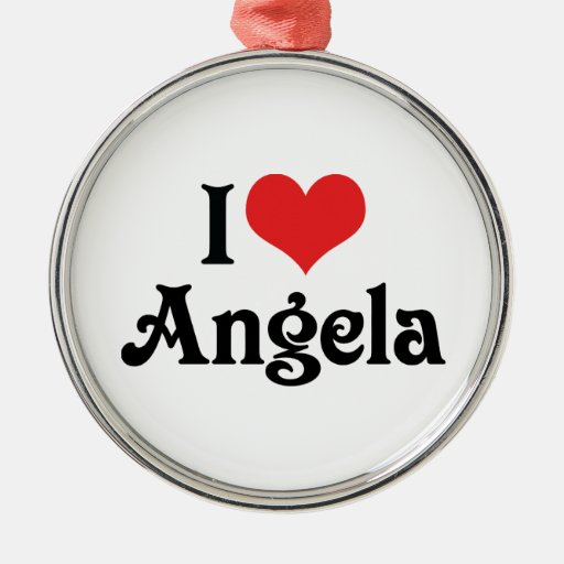 I Love Angela Christmas Tree Ornament