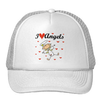 I Love Angels T-shirts and Gifts Hats