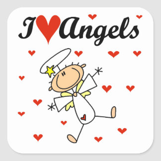 I Love Angels T-shirts and Gifts Stickers