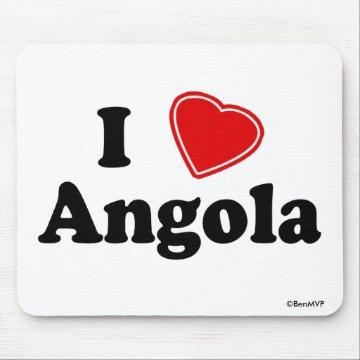 I Love Angola Mouse Pads