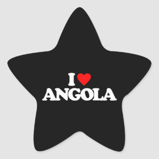 I LOVE ANGOLA STAR STICKERS