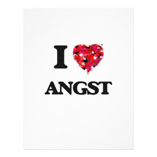 I Love Angst 21.5 Cm X 28 Cm Flyer