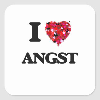 I Love Angst Square Sticker