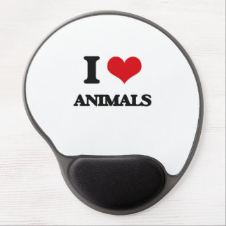 I Love Animals Gel Mouse Mat