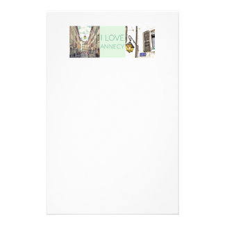 """I Love Annecy"" Letterhead"