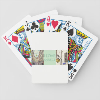 """""""I Love Annecy"""" Photo Banner Bicycle Playing Cards"""