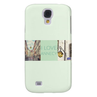 """I Love Annecy"" Photo Banner Galaxy S4 Covers"