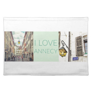 """""""I Love Annecy"""" Placemat"""