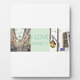 """I Love Annecy"" Plaque with Easel"