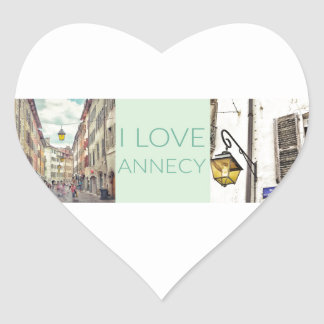 """I Love Annecy"" Stickers (Heart)"