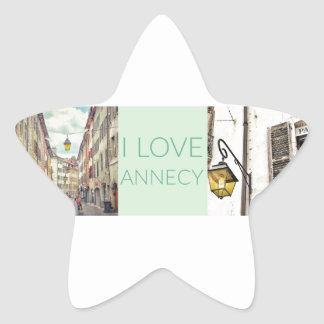"""I Love Annecy"" Stickers (Stars)"