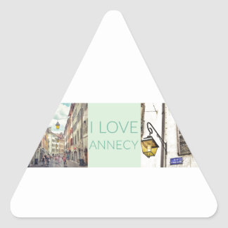 """I Love Annecy"" Stickers (Triangular)"