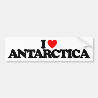 I LOVE ANTARCTICA BUMPER STICKER