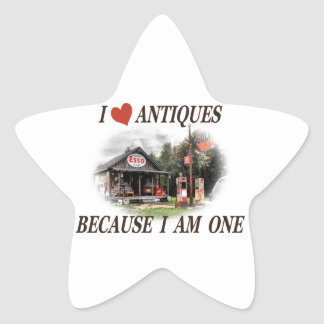 I love antiques because I am one Stickers