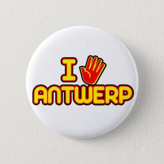 I Love Antwerp (hand) 6 Cm Round Badge