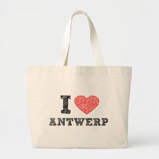I Love Antwerp Large Tote Bag