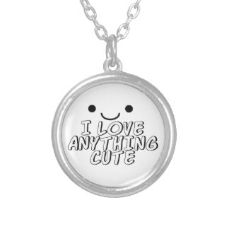I Love Anything Cute Silver Plated Necklace