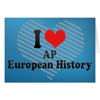 I Love AP European History Card