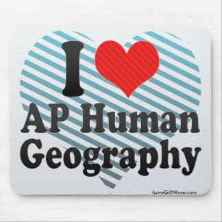 I Love AP Human Geography Mouse Pads