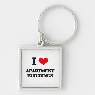 I Love Apartment Buildings Key Chain