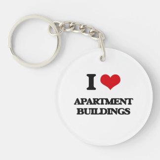 I Love Apartment Buildings Acrylic Key Chain