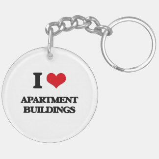 I Love Apartment Buildings Keychains