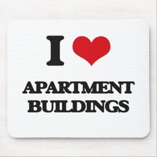 I Love Apartment Buildings Mousepads