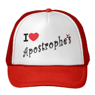 I love apostrophes hats