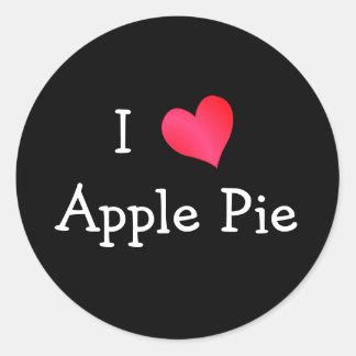 I Love Apple Pie Classic Round Sticker