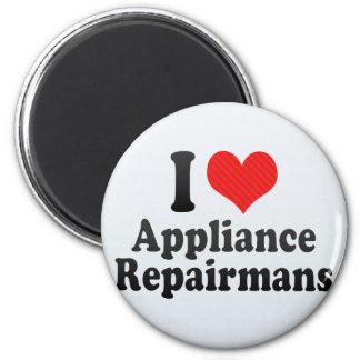 I Love Appliance Repairmans Fridge Magnets