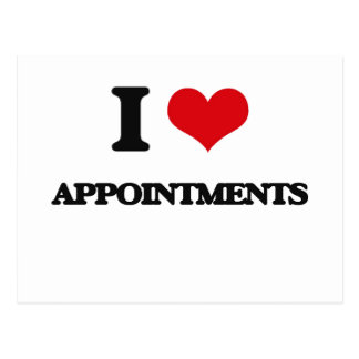 I Love Appointments Post Card