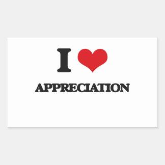 I Love Appreciation Rectangular Stickers