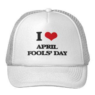 I Love April Fools' Day Mesh Hats