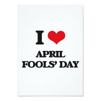 """I Love April Fools' Day 5"""" X 7"""" Invitation Card"""