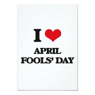 """I Love April Fools' Day 3.5"""" X 5"""" Invitation Card"""