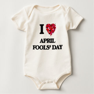 I Love April Fools' Day Rompers
