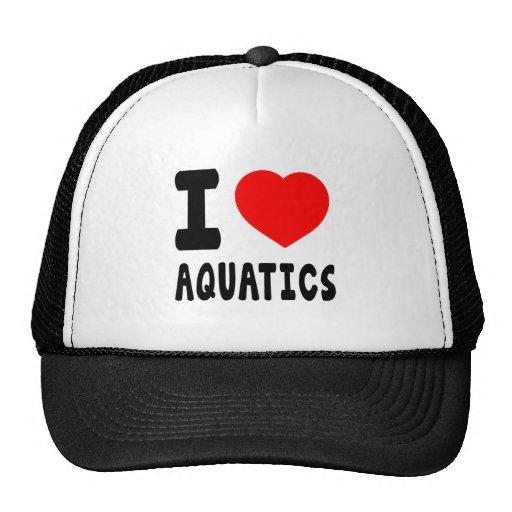 I Love Aquatics Mesh Hats