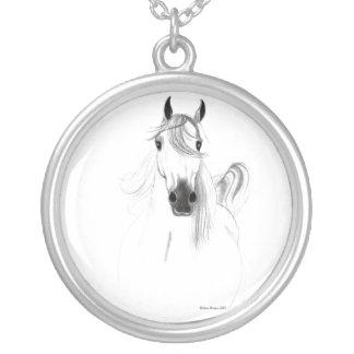 I Love Arabian Horses Necklace
