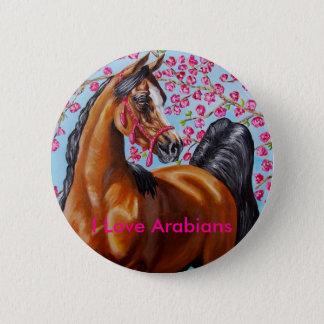 I Love Arabians 6 Cm Round Badge