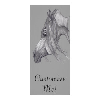 I Love Arabians Arabian Horse Art Personalized Rack Card