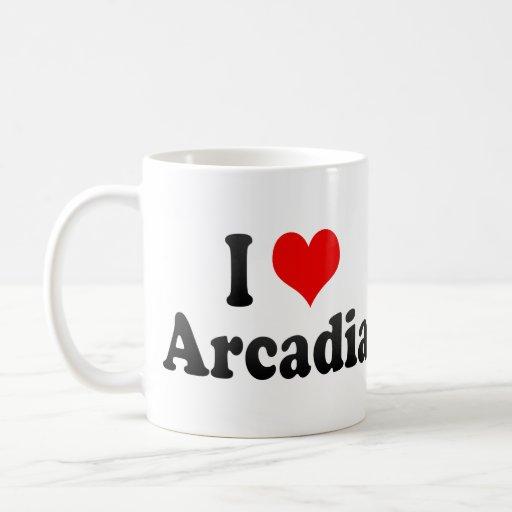 I Love Arcadia, United States Coffee Mug